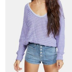Free People We The Free Thien's Hacci Top Sweater